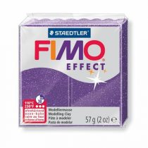 "FIMO Gyurma, 56 g, égethető, FIMO ""Effect"", csillámos bíborlila"