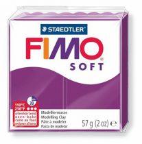 "FIMO Gyurma, 56 g, égethető, FIMO ""Soft"", bíborlila"