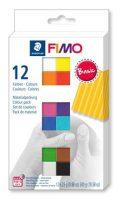 """FIMO Gyurma, készlet, 12x25 g, égethető, FIMO """"Soft Basic"""", 12 különböző szín"""