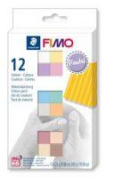 """FIMO Gyurma, készlet, 12x25 g, égethető, FIMO """"Soft Pastel"""" 12 különböző szín"""