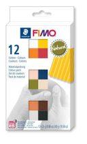 """FIMO Gyurma, készlet, 12x25 g, égethető, FIMO """"Soft Natural"""", 12 különböző szín"""