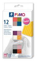 """FIMO Gyurma, készlet, 12x25 g, égethető, FIMO """"Soft Fashion"""", 12 különböző szín"""