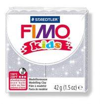 "FIMO Gyurma, 42 g, égethető, FIMO ""Kids"", glitteres ezüst"