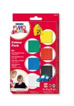"""FIMO Gyurma készlet, 6x42 g, égethető, FIMO """"Kids Color Pack"""", 6 alapszín"""