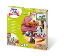 """FIMO Gyurma készlet, 4x42 g, égethető, FIMO """"Kids Form & Play"""", állatok"""