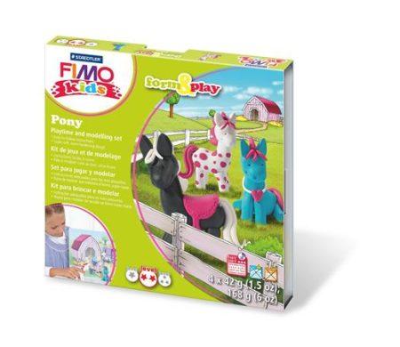 """FIMO Gyurma készlet, 4x42 g, égethető, FIMO """"Kids Form & Play"""", pónik"""