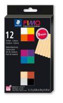 """FIMO Gyurma, készlet, égethető, 12x25 g, FIMO """"Professional Basic"""", 12 különböző szín"""