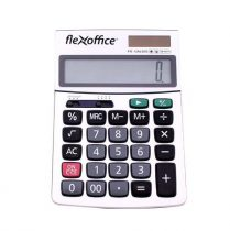 """FLEXOFFICE Számológép, asztali, 12 számjegy, FLEXOFFICE """"FO-CAL02S"""", ezüst"""