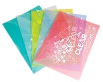 """FLEXOFFICE Irattartó tasak, A4, PP, patentos, 180 mikron, FLEXOFFICE """"FO-CBF05"""", vegyes színek"""