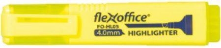 """FLEXOFFICE Szövegkiemelő, 1-4 mm, FLEXOFFICE """"HL05"""", sárga"""