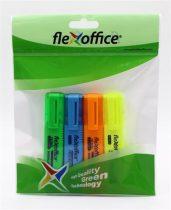 """FLEXOFFICE Szövegkiemelő, 1-4 mm, FLEXOFFICE """"HL05"""", 4 különböző szín"""