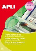 APLI Fólia, írásvetítőhöz, A4, tintasugaras nyomtatóba, APLI