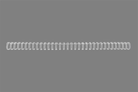 "GBC Spirál, fém, 3:1, 6 mm, 55 lap, GBC ""WireBind"", fehér"