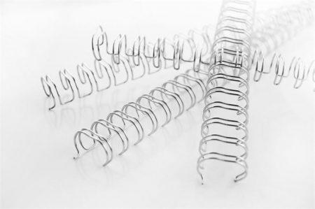"""GBC Spirál, fém, 3:1, 6 mm, 55 lap, GBC """"WireBind"""", ezüst"""
