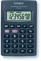 """CASIO Zsebszámológép, 8 számjegy, CASIO """"HL-4T"""""""