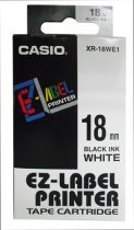 CASIO Feliratozógép szalag, 18 mm x 8 m, CASIO, fehér-fekete