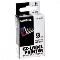 CASIO Feliratozógép szalag, 9 mm x 8 m, CASIO, fehér-fekete