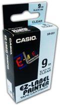 CASIO Feliratozógép szalag, 9 mm x 8 m, CASIO, víztiszta-fekete