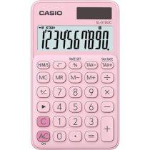 """CASIO Számológép, asztali, 10 számjegy, CASIO """"SL 310K"""", világos rózsaszín"""