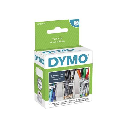 DYMO Etikett, LW nyomtatóhoz, 13x25 mm, 1000 db etikett, DYMO