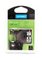 """DYMO Feliratozógép szalag, flexibilis, 12 mm x 3,5 m, DYMO """"D1"""", fehér-fekete"""