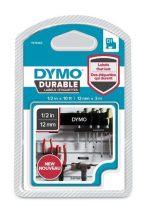 """DYMO Feliratozógép szalag, 12 mm x 3 m, tartós, DYMO """"D1"""", fekete-fehér"""