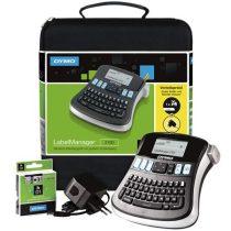 """DYMO Elektromos feliratozógép,  DYMO """"LM 210D"""" készlet táskában"""
