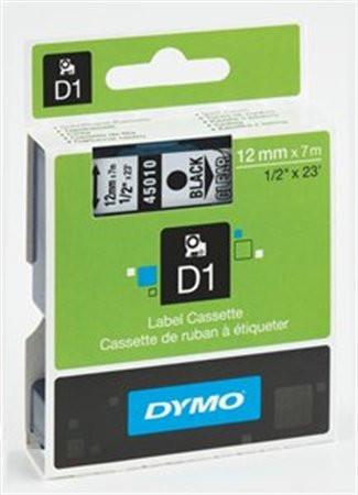 """DYMO Feliratozógép szalag, 9 mm x 7 m, DYMO """"D1"""", víztiszta-fekete"""