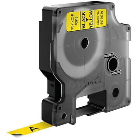 """DYMO Feliratozógép szalag, 9 mm x 7 m, DYMO """"D1"""", sárga-fekete"""