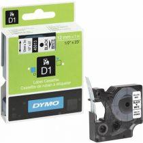 """DYMO Feliratozógép szalag, 12 mm x 7 m, DYMO """"D1"""", fehér-fekete"""