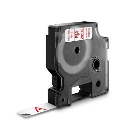"""DYMO Feliratozógép szalag, 12 mm x 7 m, DYMO """"D1"""", fehér-piros"""