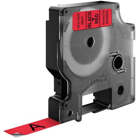 "DYMO Feliratozógép szalag, 12 mm x 7 m, DYMO ""D1"", piros-fekete"