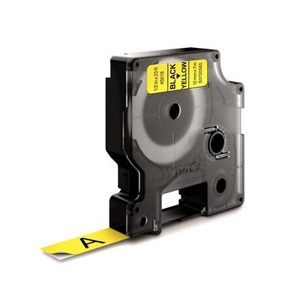 """DYMO Feliratozógép szalag, 12 mm x 7 m, DYMO """"D1"""", sárga-fekete"""