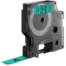 """DYMO Feliratozógép szalag, 12 mm x 7 m, DYMO """"D1"""", zöld-fekete"""