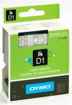 """DYMO Feliratozógép szalag, 24 mm x 7 m, DYMO """"D1"""", víztiszta-fekete"""