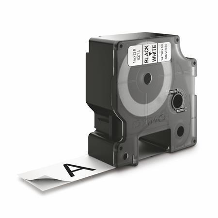 """DYMO Feliratozógép szalag, 24 mm x 7 m, DYMO """"D1"""", fehér-fekete"""