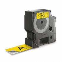 """DYMO Feliratozógép szalag, 24 mm x 7 m, DYMO """"D1"""", sárga-fekete"""