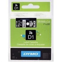 """DYMO Feliratozógép szalag, 24 mm x 7 m, DYMO """"D1"""", fekete-fehér"""