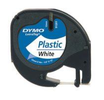 """DYMO Feliratozógép szalag, 12 mm x 4 m, DYMO """"Letratag"""", fehér"""