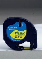 """DYMO Feliratozógép szalag, 12 mm x 4 m, DYMO """"Letratag"""", sárga"""