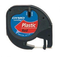 "DYMO Feliratozógép szalag, 12 mm x 4 m, DYMO ""Letratag"", piros"