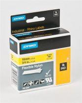 "DYMO Feliratozógép szalag, flexibilis, 19 mm x 3,5 m, DYMO ""Rhino"", sárga-fekete"
