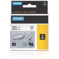 "DYMO Feliratozógéphez, zsugorcső, 9 mm x 1,5 m, DYMO ""Rhino"", fehér-fekete"