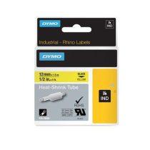 """DYMO Feliratozógéphez, zsugorcső, 12 mm x 1,5 m, DYMO """"Rhino"""", sárga-fekete"""