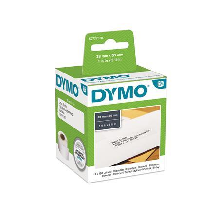DYMO Etikett, LW nyomtatóhoz, tartós, 28x89 mm, 130 db etikett, DYMO