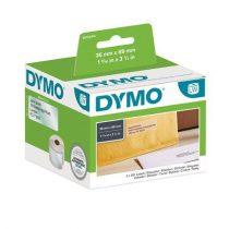 DYMO Etikett, LW nyomtatóhoz, műanyag, 36x89 mm, 260 db etikett, DYMO, átlátszó