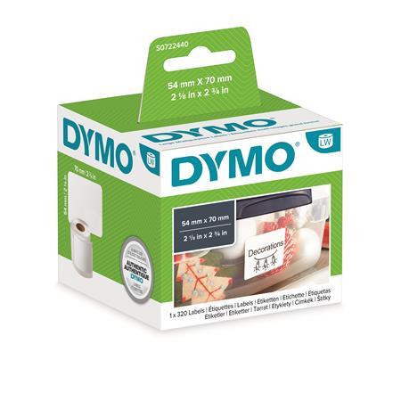 DYMO Etikett, LW nyomtatóhoz, 70x54 mm, 320 db etikett, DYMO