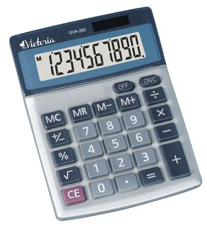 """VICTORIA Számológép, asztali, 10 számjegy, VICTORIA """"GVA-260"""""""