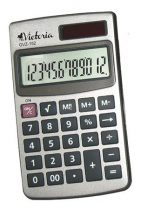 """VICTORIA Zsebszámológép, 12 számjegy, fém ház, VICTORIA """"GVZ-152"""""""