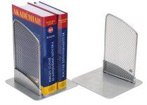 ALBA Könyvtámasz, fémhálós, 2 db, ALBA, ezüst